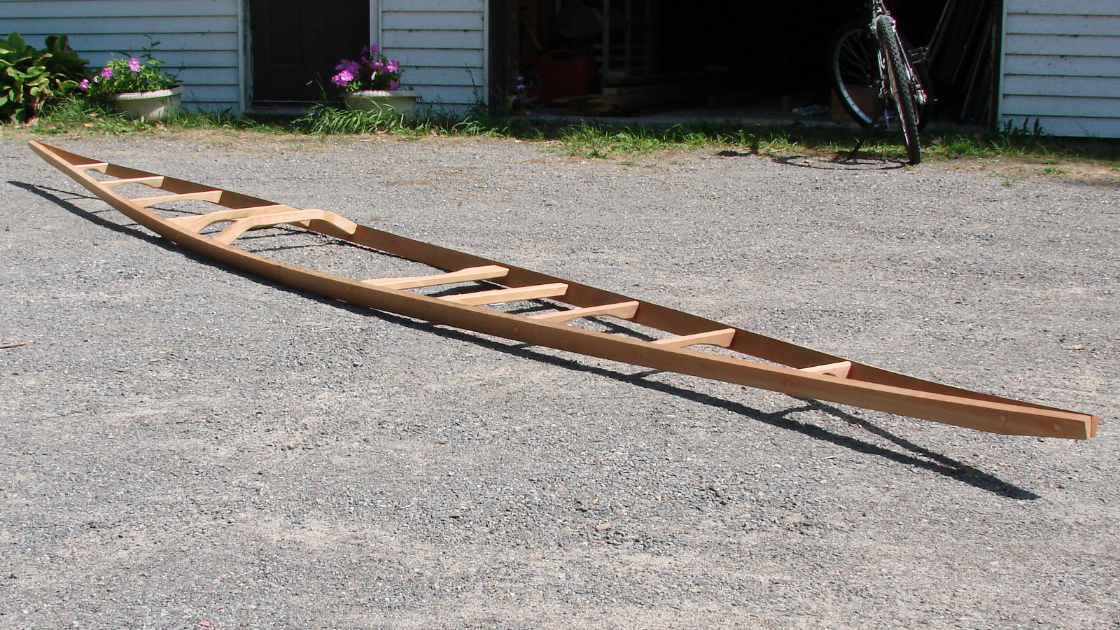 Skin on frame kayak plans - Frame Ready For Ribs